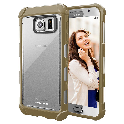Samsung Galaxy S6 EDGE Case, Rugged/Clear Back Design With Scratch-proofFinish (Encased)