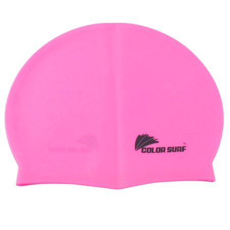 Pink Flexible Silicone - Unique Bargains Sporty Pink Silicone Flexible Swimming Swim Cap Bathing Hat Swimwear Dive Sports