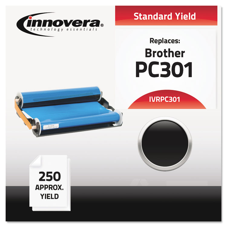 Innovera PC301 Compatible, Remanufactured, PC301 Thermal Transfer, 250 Page-Yield, Black -IVRPC301
