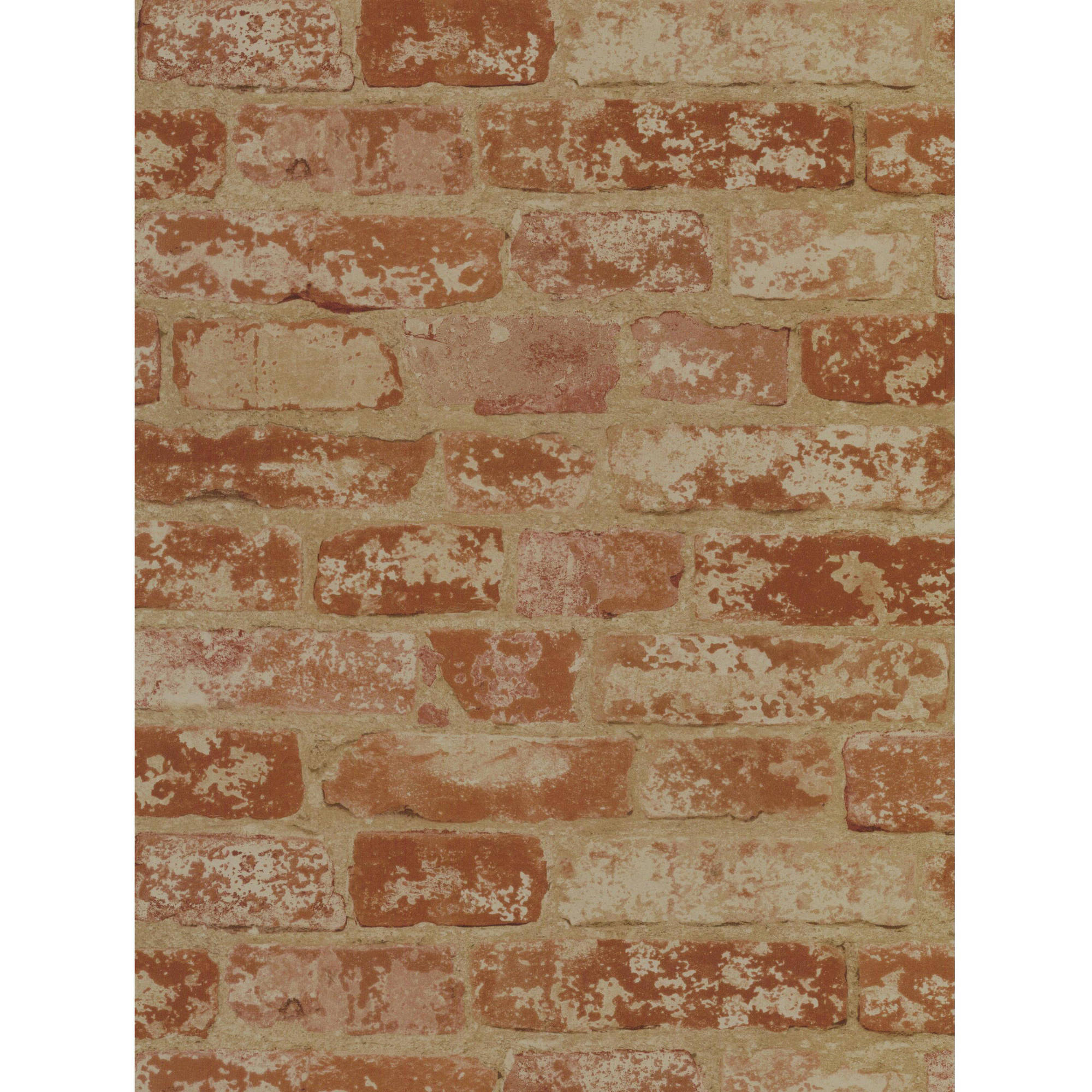 Welcome Home Stuccoed Brick Wallpaper