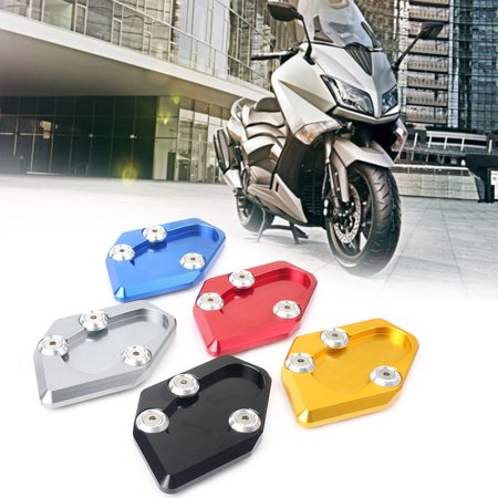 GZYF Motorcycle Black Side Kickstand Stand Extension Plate Pad For Yamaha T-MAX 530 2015-2016 BS1