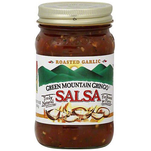 Green Mountain Gringo Roasted Garlic Medium Salsa, 16 oz (Pack of 6)