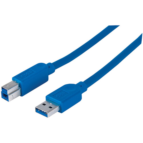 Manhattan 393881 A-male-to-B-male USB 3.0 SuperSpeed USB Cable