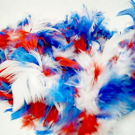 Patriotic Feather Boa - Feather Boas In Bulk Cheap