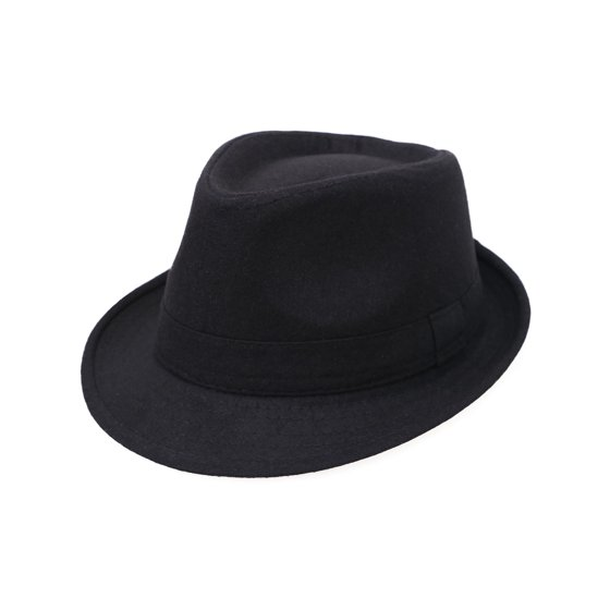 b0e363fb26d Simplicity Unisex Timelessly Classic Manhattan Fedora Hat, Black -  Walmart.com