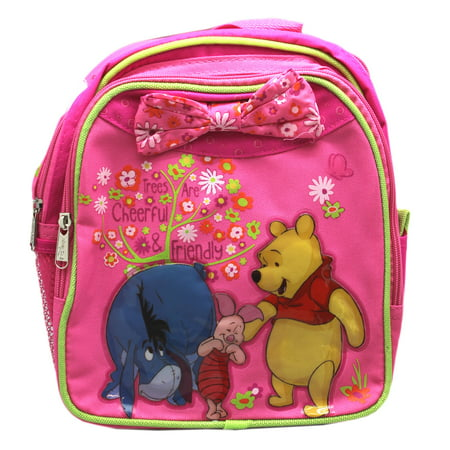 Disney's Winnie the Pooh Pink Floral Mini Toddler Backpack (10in)