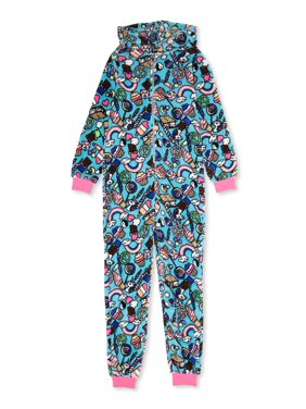 Peace, Love & Dreams Girls Hooded Pajama Blanket Sleeper Sizes XS-L