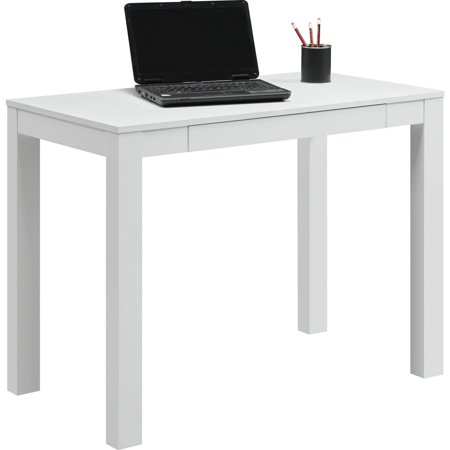 Mainstays Parsons Office Desk with Drawer, Multiple Colors ()