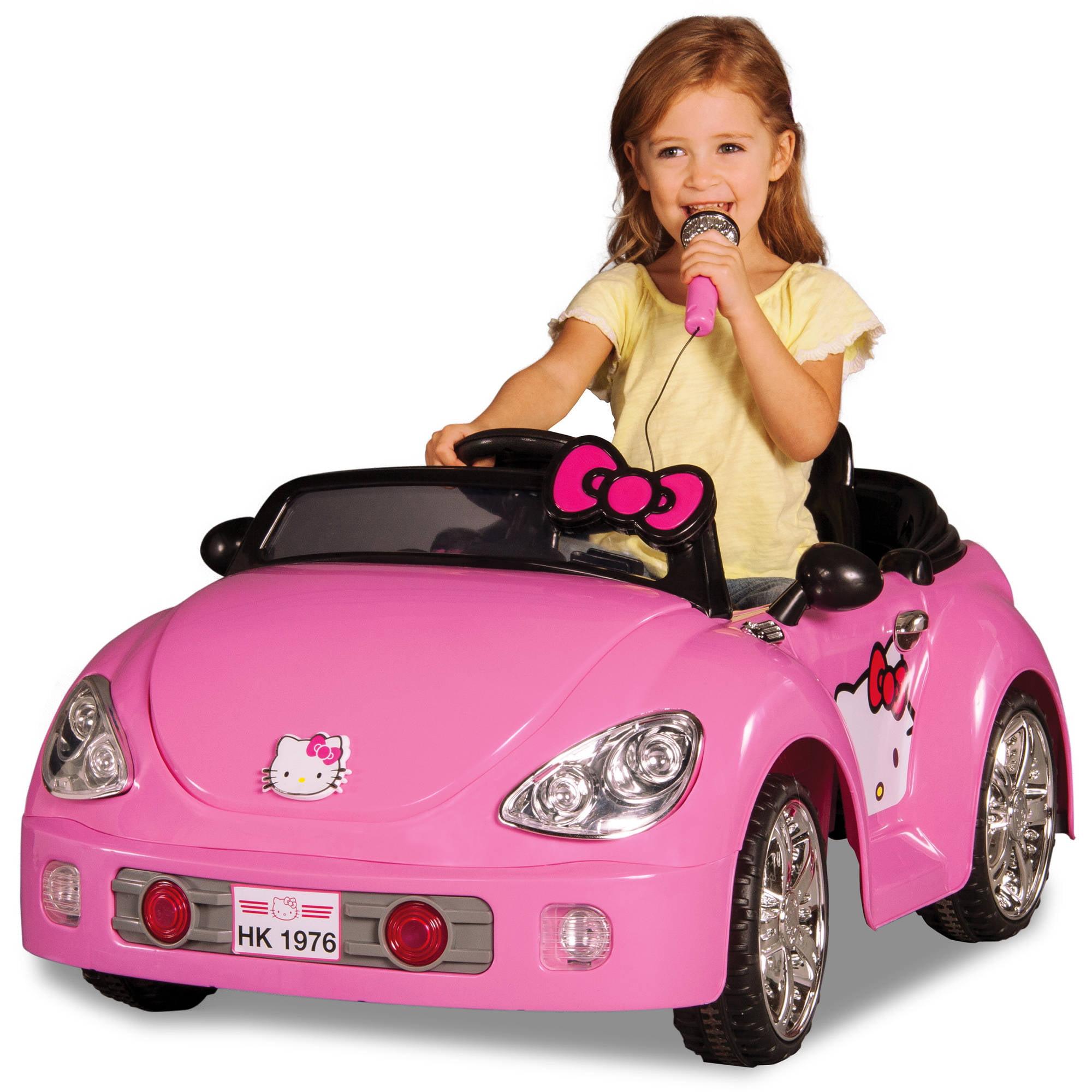 ip Dynacraft Hello Kitty V Karaoke Car Battery Powered Ride On