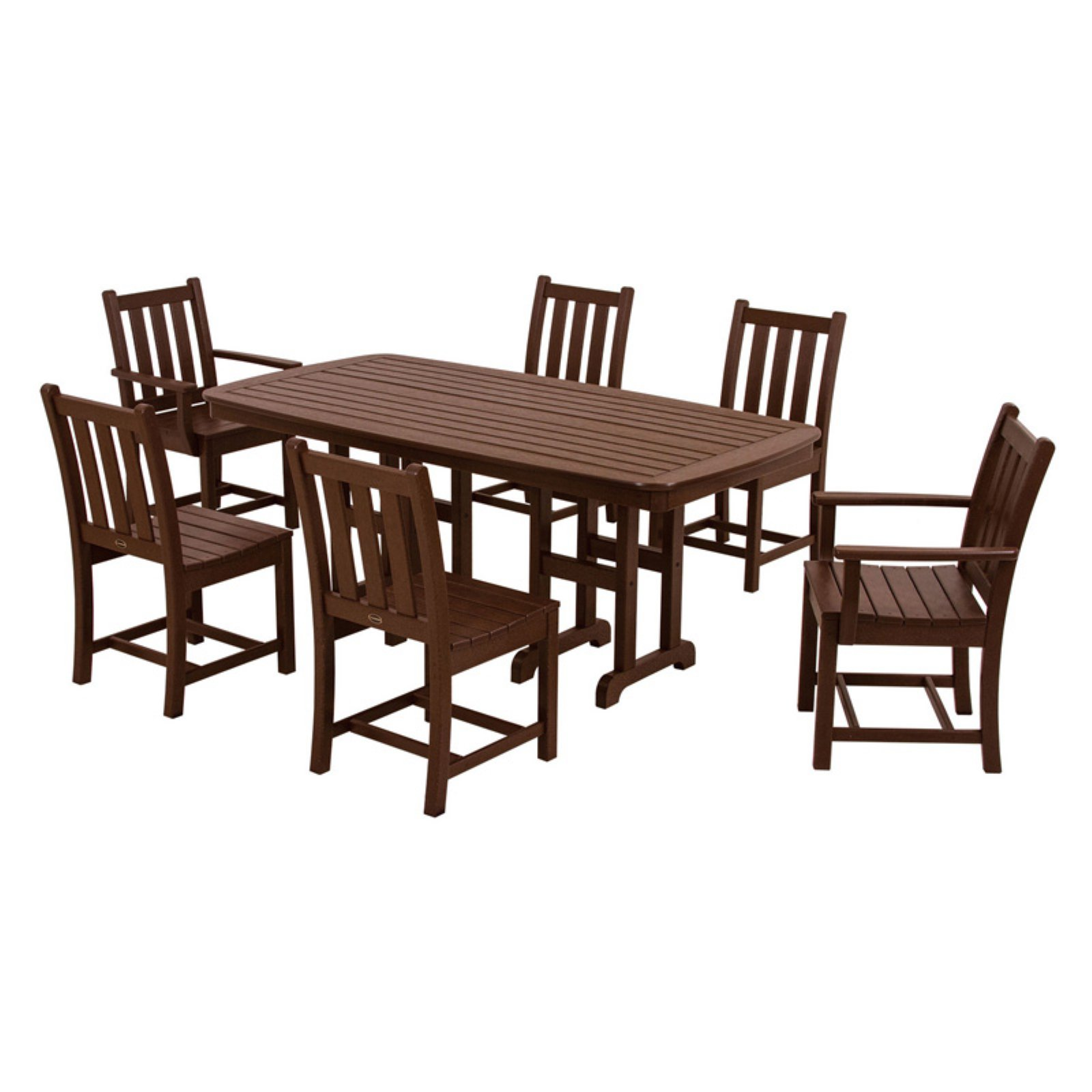 POLYWOOD® Traditional Garden Dining Set - Seats 6