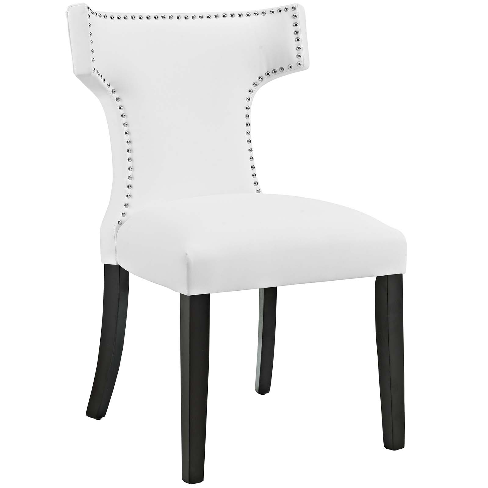 Modern Contemporary Urban Design Kitchen Room Dining Chair, White, Faux  Leather