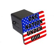 """One Nation Under God Usa Flag 2"""" Tow Trailer Hitch Cover Plug Insert"""