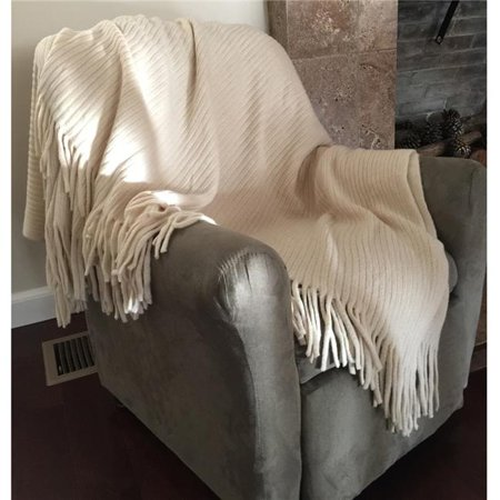 Admirable Ddi 2127302 Deluxe Knitted Throw Blanket Ivory Bralicious Painted Fabric Chair Ideas Braliciousco