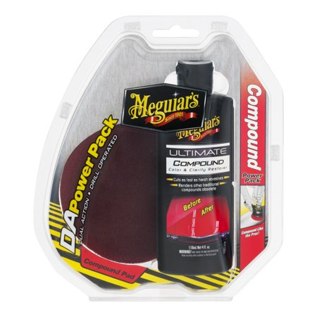 Meguiar's DA Compound Power Pack – Ultimate Compound & DA Power Pad for Easy Defect  Removal – G3501 (Oct Compound)
