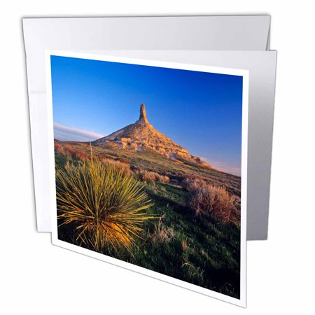 3dRose Chimney Rock, Bayard, Nebraska - US28 CHA0075 - Chuck Haney, Greeting Cards, 6 x 6 inches, set of 6