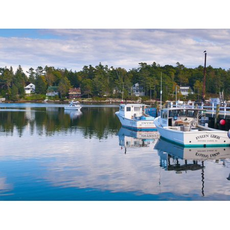 Lobster Fishing Boats, Boothbay Harbor, Maine, New England, United States of America, North America Print Wall Art By Alan