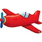 Qualatex 36 Inch Supershape Foil Balloon - Red Vintage Airplane