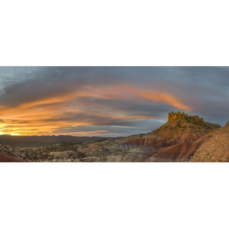 Sunrise Over The Circle Cliffs Near Long Canyon Grand Staircase Escalante National Monument Utah Usa Canvas Art   Panoramic Images  27 X 9