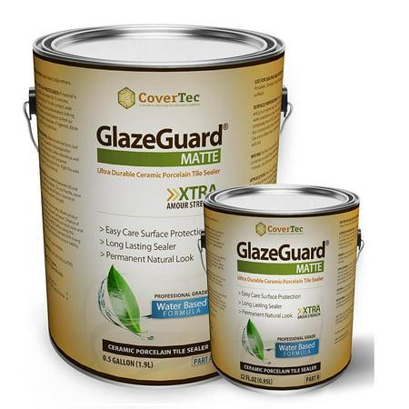 GlazeGuard Matte Sealer For Ceramic, Porcelain, Stone Tile Floor /Wall Surfaces (0.75 Gal - Pro Grade (2) Part (0.75 Tiles)