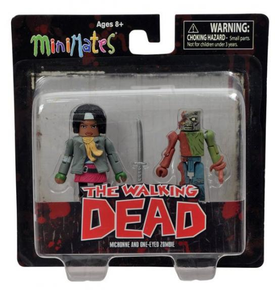 The Walking Dead Minimates Series 2 Michonne & One-Eyed Zombie Minifigure 2-Pack