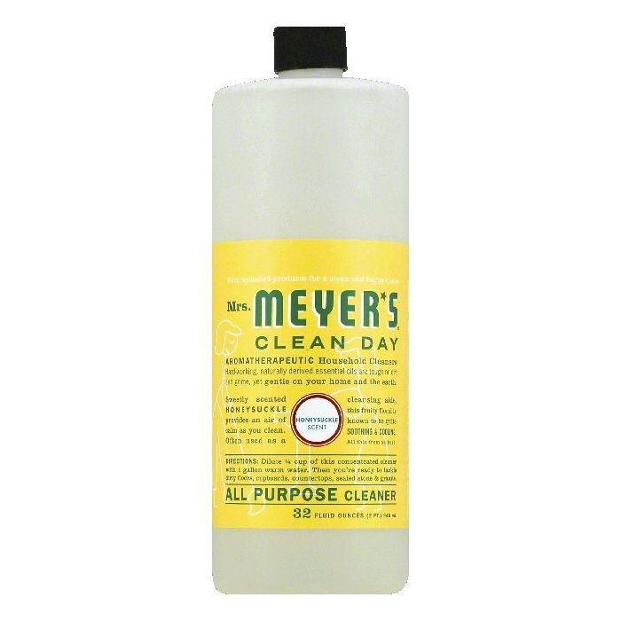Mrs Meyers Honeysuckle Scent All Purpose Cleaner, 32 OZ (Pack of 6)