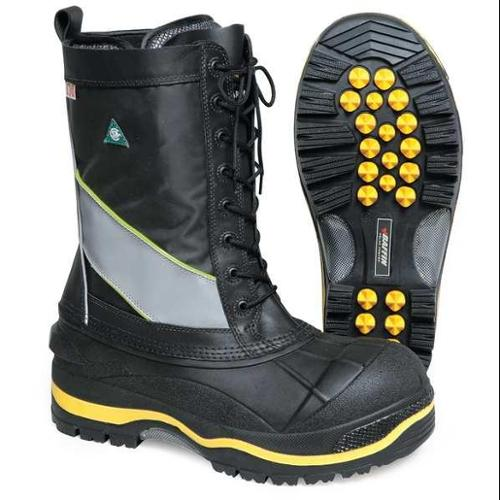 BAFFIN POLA-MP01-BK2-10 Winter Boots, Mens, 10, Lace, Steel Toe