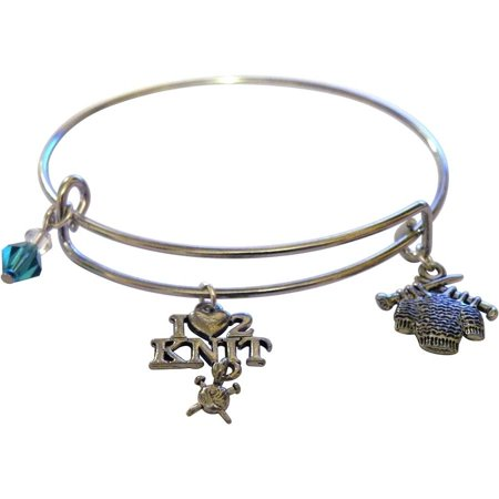 Accent Love Charm (Charming Accents Adjustable Charm Bangle, 7.5