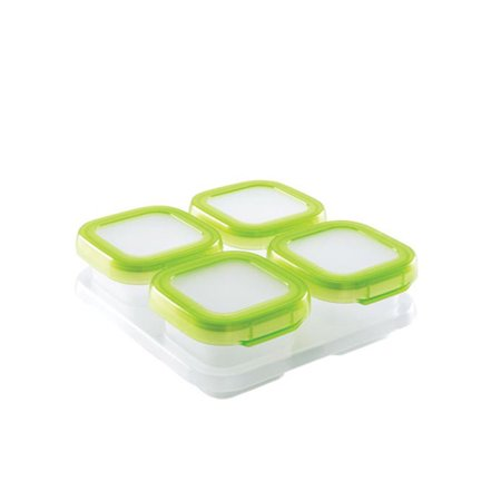 OXO Tot Baby Blocks Freezer Storage Containers - 4 Ounce - Green