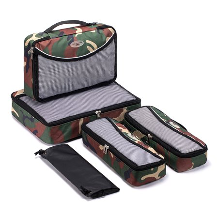 SOHO Designs Travel Organizers / packing cubes with Laundry Bag 5 Pcs Set Camouflage *Buy Direct From The Manufacturer with Best Price !