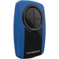 Chamberlain Klik3U-Bl2 Clicker Universal 2-Button Garage Door Opener Remote With Visor Clip, Blue