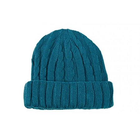 Knit Unisex Beanie Hat (Sanremo Unisex Kids Warm Knitted Fold-Over Winter Beanie Hat (Corel Blue))