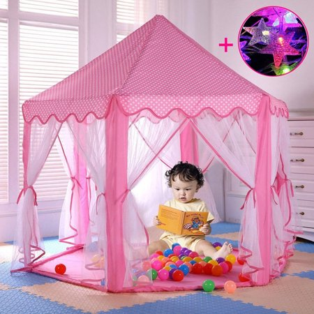 Play Tent Child Princess Castle tent Indoor and Outdoor Large Play House Game House, Pink