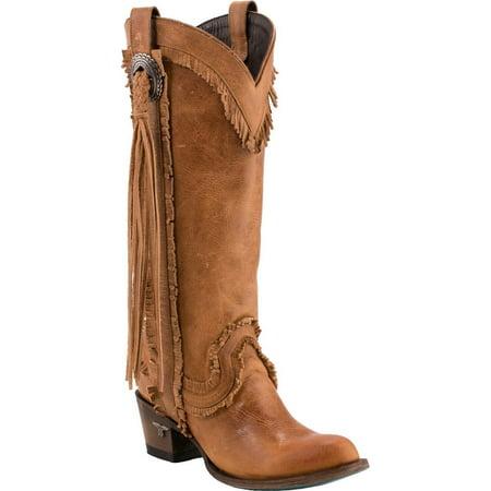 Women's Sierra Fringe Boot Round Toe - Lb0346a