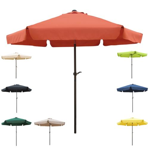 International Caravan Steel Rib 8-foot Patio Umbrella Forest Green Canopy