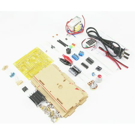 LM317 Adjustable Regulated Voltage 1.20V-12V 2W Power Supply Module PCB Board Electronic Kits with Shell