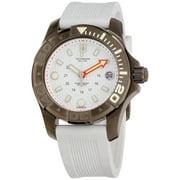 Victorinox Women's Swiss Army Dive Master 500 241556.1 White Rubber Swiss Quartz Watch