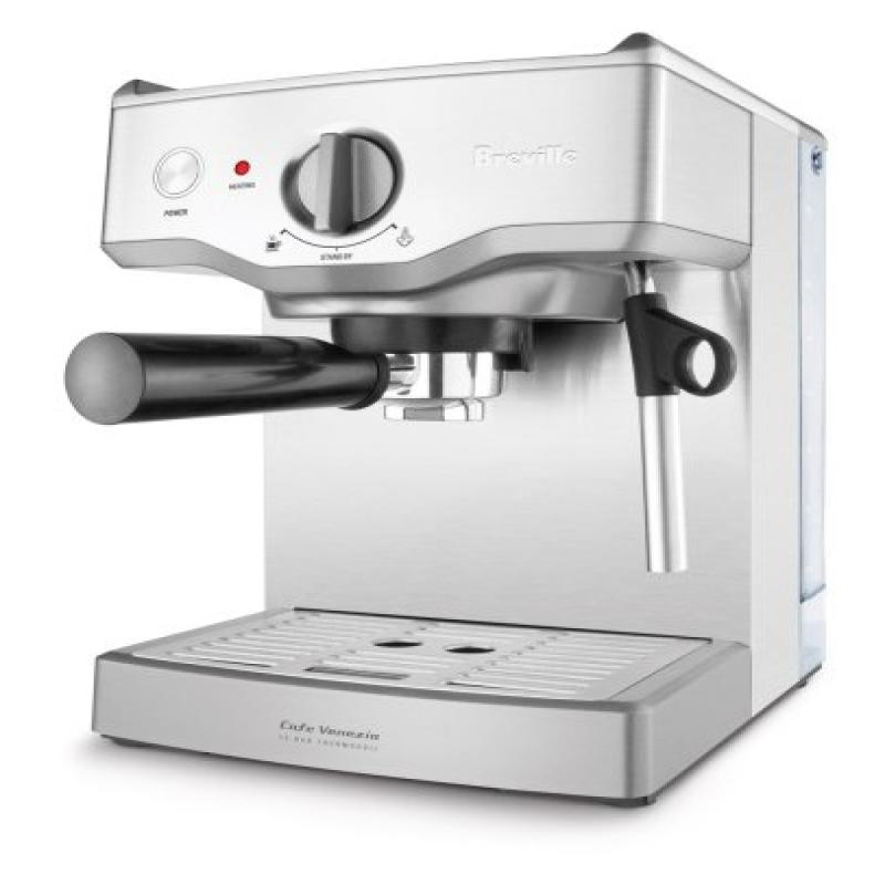 Breville BES250XL Cafe Venezia 15-Bar Stainless-Steel Espresso Machine by