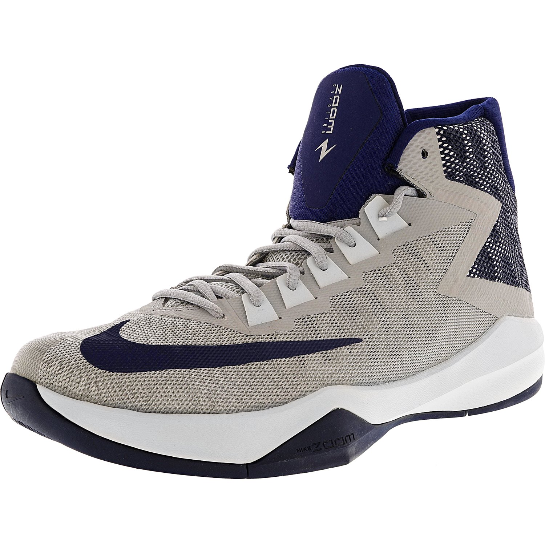 72d4a38b08c5 Nike Men s Zoom Devosion Black   Reflect Silver - Cool Grey High-Top  Basketball Shoe 10.5M