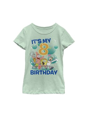 SpongeBob SquarePants Girls' Under the Sea 8th Birthday T-Shirt