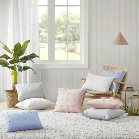 Home Essence Apartment Kay Cotton Jacquard Pom Pom Square Pillow