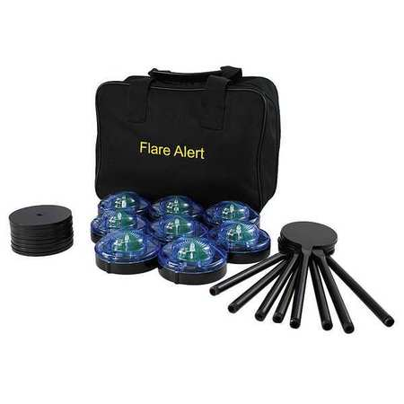 LED Road Flare Kit,1 Watt,Blue FLAREALERT B8BBP2FULL
