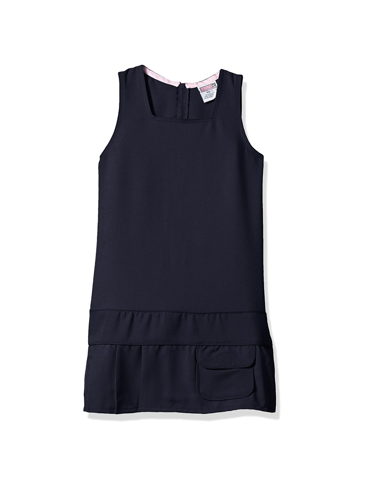 Genuine uniform girls square neck drop waist jumper
