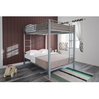 DHP Full-Over-Full Metal Bunk Bed for Kids, Metal Frame with Ladder, Multiple Colors