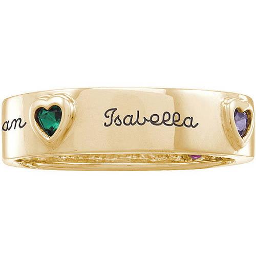 Personalized Keepsake Mother's Eternity Heart-Shaped Birthstone Ring