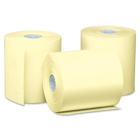 PM, PMC05214C, Thermal Print Cash Register/ATM Rolls, 50 / Carton, Canary