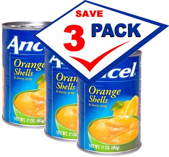 Ancel Orange Shells in Heavy Syrup  17 0z  can Pack of 13