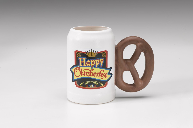 Oktoberfest Plastic Mug with Pretzel Hand by Forum Novelties