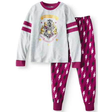 Harry Potter Girls' Poly 2-Piece Pajama Sleep Set (Girls Pajamas Size 16)