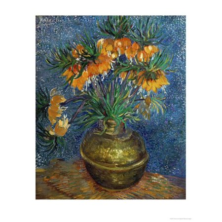 Crown Imperial Fritillaries in a Copper Vase, c.1886 Print Wall Art By Vincent van (Vincent Van Gogh Vase)