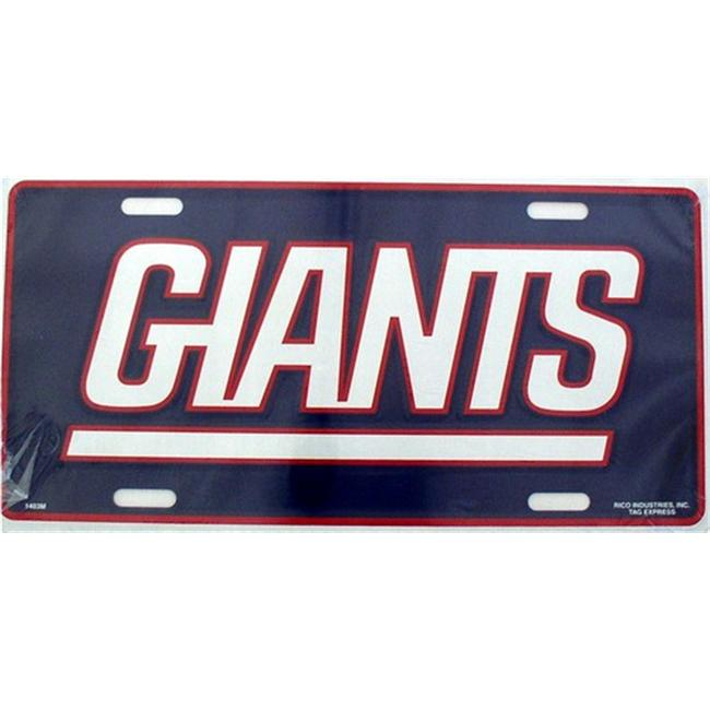 LP - 715 NY New York Giants NFL Football License Plate - 1402M